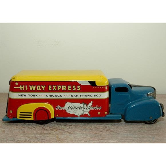 Marx Tin Litho Highway Express Toy Truck For Sale - Image 4 of 8