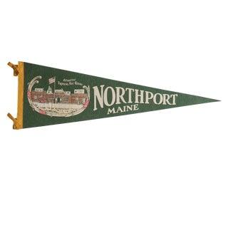 Vintage Northport Maine Felt Flag Pennant