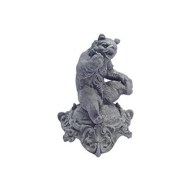 Iron Antique Cast Iron Bear Figurine For Sale - Image 7 of 7