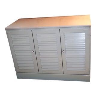 Ethan Allen White Media Cabinet Storage Cabinet For Sale