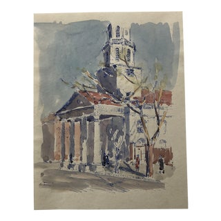 View of St. Michaels Church Charleston S C 1940s For Sale