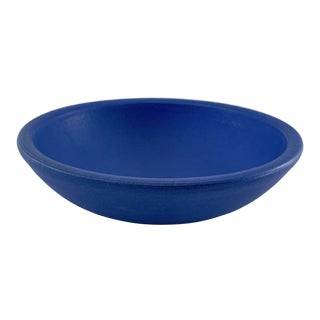 Electric Blue Artisan Ceramic Bowl For Sale