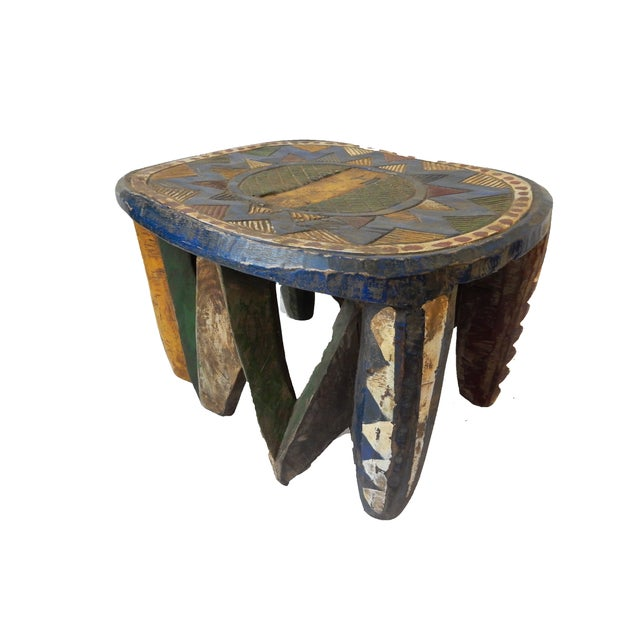 African Old Nupe Low Stool For Sale - Image 9 of 10