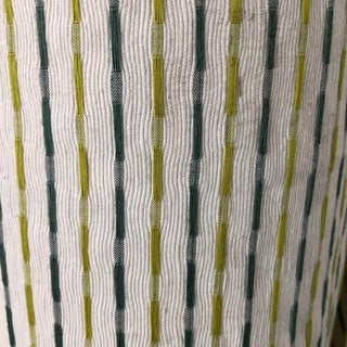 Boho Chic Bistro Fabric Textured Small Scale Railroad Stripe Upholstery Drapery Fabric For Sale