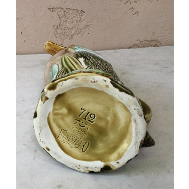 Late 19th Century Late 19th Century French Majolica Duck Pitcher For Sale - Image 5 of 7