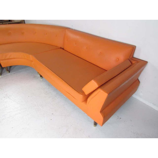 Mid-Century Modern Three-Piece Sectional Sofa For Sale - Image 4 of 13