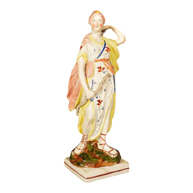 Staffordshire Pearlware Pottery Figure of Diana, Wood Family, Early 19th-Century For Sale