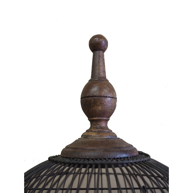 Antique 19th Century Victorian Cupola Bird Cage - Image 7 of 7