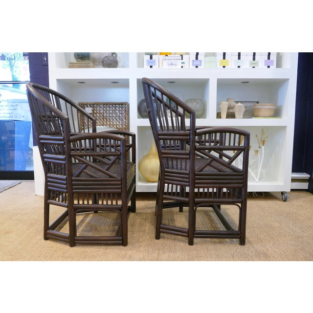 Boho Chic 1960s Bamboo Cane Chairs - a Pair For Sale - Image 3 of 10