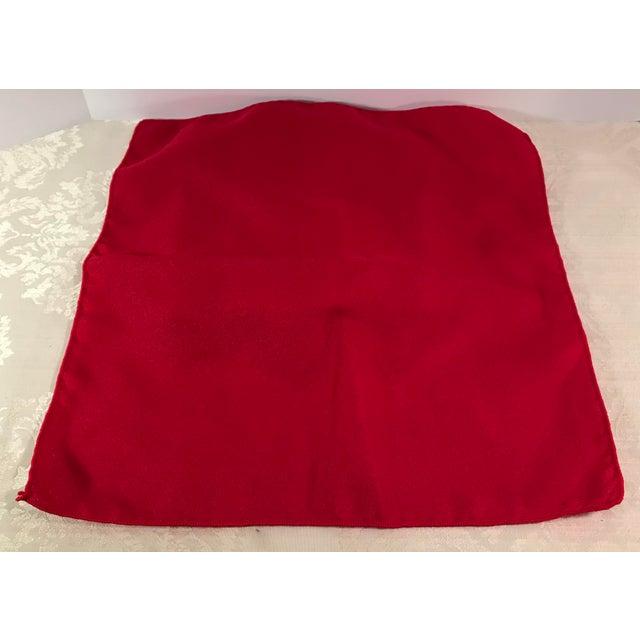 Modern Vintage Red Napkins - Set of 4 For Sale - Image 3 of 6
