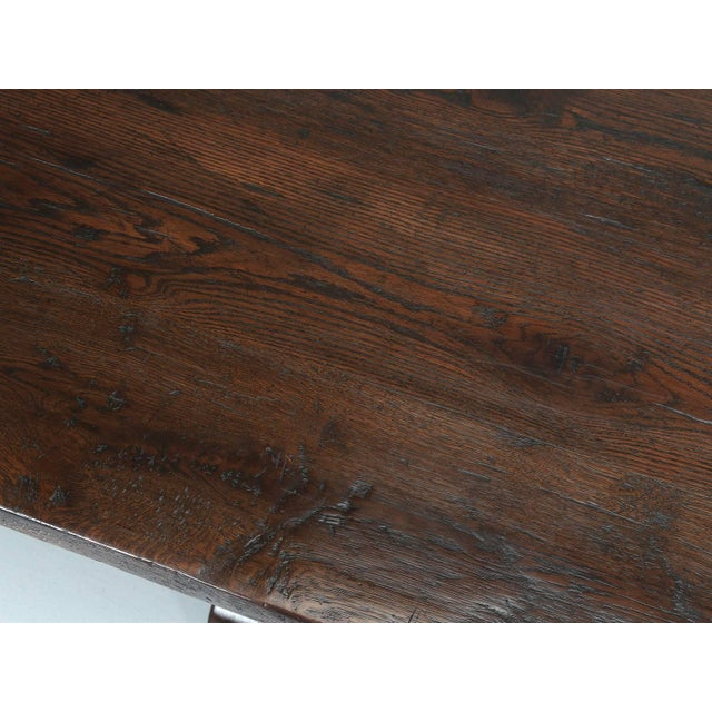 Early 19th Century Antique French Oak Trestle Dining Table, Seats 12 For Sale - Image 5 of 13