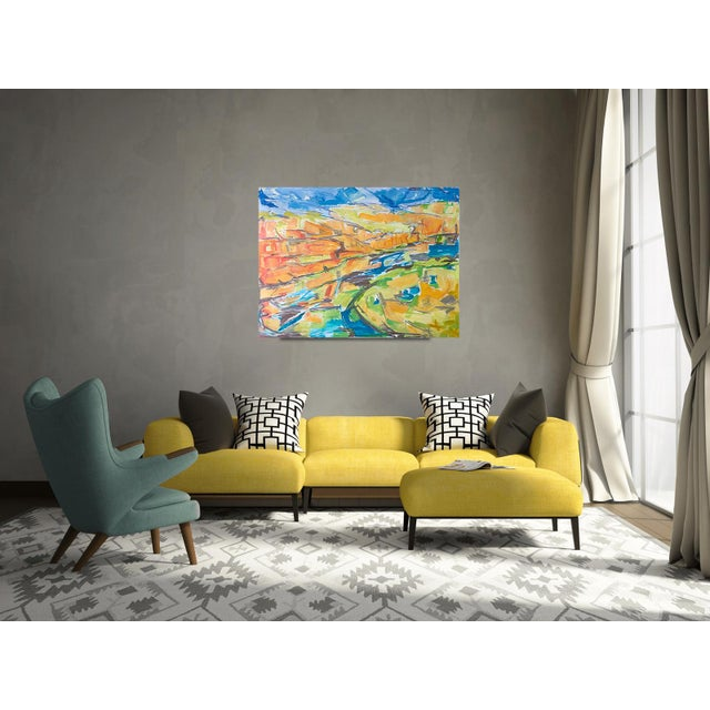 """Kimberley Gorge"" by Trixie Pitts Abstract Landscape Oil Painting For Sale In Nashville - Image 6 of 11"