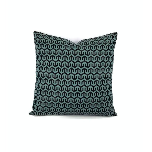 Holly Hunt Anchors Aweigh Turqs and Caicos Accent Pillow Cover For Sale In Portland, OR - Image 6 of 7
