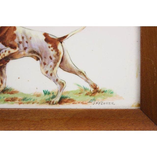 Framed Sporting Dog Enamel Print - Image 4 of 4