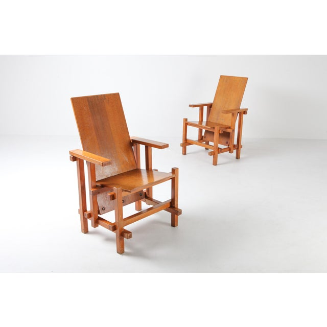 Modernist Armchairs Attributed to Gerrit Rietveld For Sale - Image 6 of 10