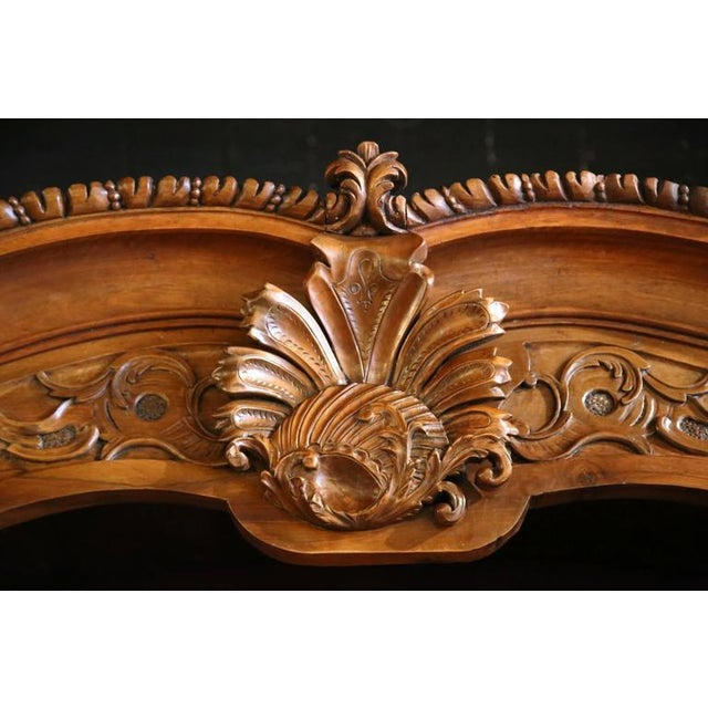 18th Century French Carved Walnut Buffet Deux Corps For Sale - Image 9 of 10