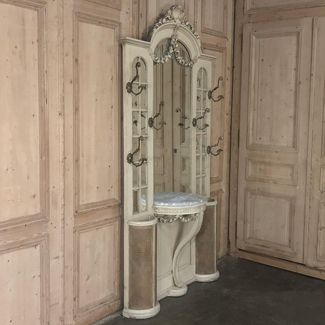 Louis XVI 19th Century French Louis XVI Painted Hall Tree For Sale - Image 3 of 13