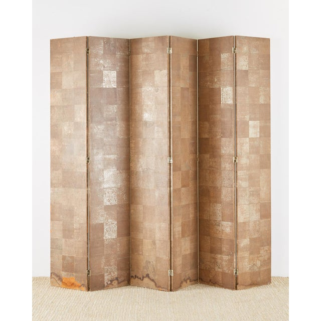 Chinoiserie Six-Panel Screen Inspired by Robert Crowder For Sale - Image 12 of 13