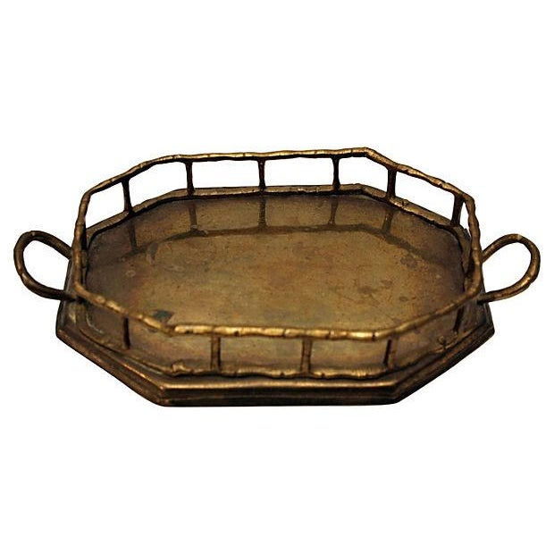 Brass Bamboo Style Vanity Tray - Image 2 of 2