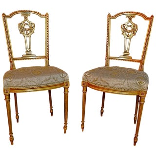 French Louis Philippe Style Chairs - a Pair For Sale