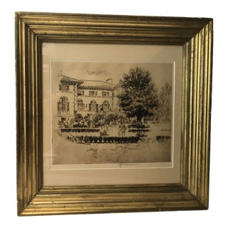 Early 20th Century Architectural and Landscape Etching by Joseph Pennell, Framed For Sale