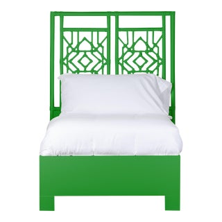 Tulum Bed Twin Extra Long - Bright Green For Sale