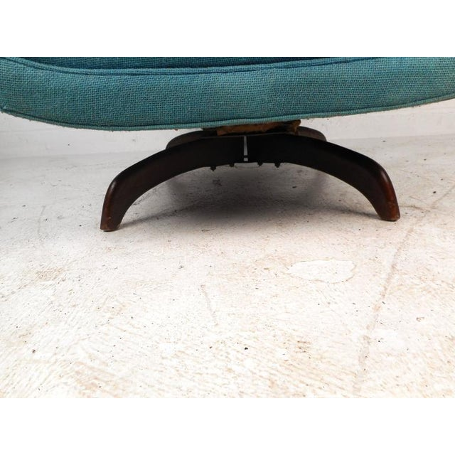 Fabric Adrian Pearsall Style Mid-Century Swivel Lounge Chair For Sale - Image 7 of 9