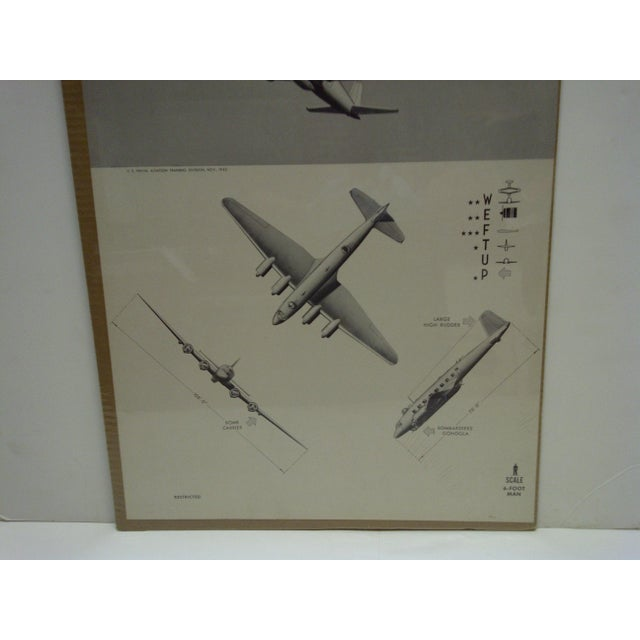 WWII Focke Wulf Kurier Aircraft Recognition Poster For Sale - Image 4 of 4