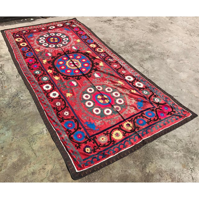 A handmade bedspread, antique table cloth, or vintage wall hanging. * Size 10.1 feet x 4.8 feet ( 310 cm x 147 cm ) *...