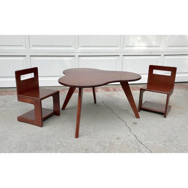 Kids S Chairs and Amoeba Table Set - Image 4 of 4