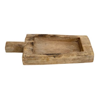 Rustic Wood Handled Tray For Sale