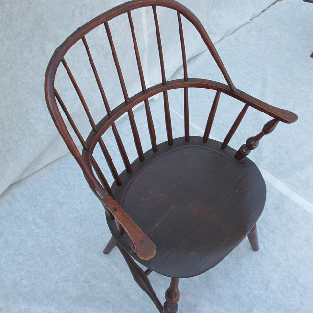 New England Bow-Back Windsor Arm Chair - Image 7 of 10