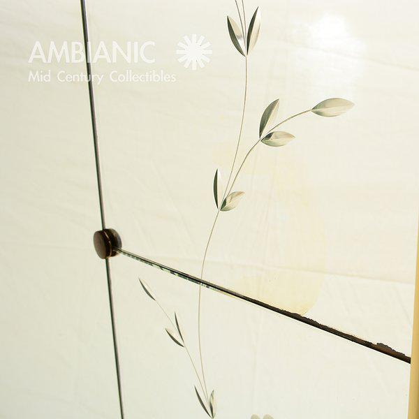 Italian Italian Full Length Mirror with Shelf & Hooks After Fontana Arte For Sale - Image 3 of 11