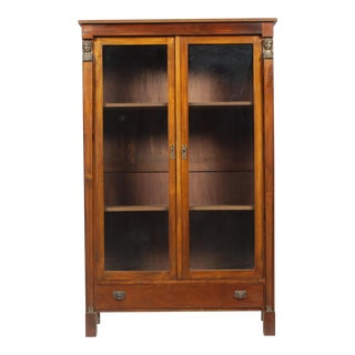1920s French Empire Caryatid Bookcase