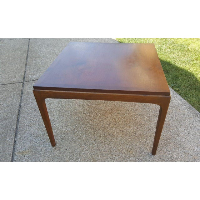 1950s Mid Century End Table By Lane Furniture: Lane Furniture Mid-Century Modern Walnut End Table