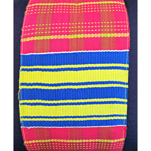 Vintage African Kente Cloth Lumbar Pillow Cover For Sale - Image 4 of 4