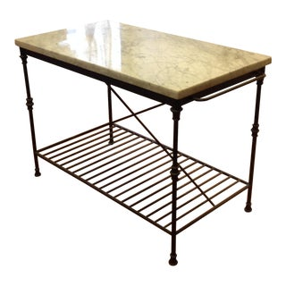 Marble Iron Frame Table by Crate & Barrel