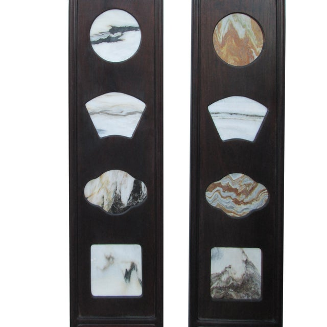 Chinese Dream Stone Scene Wall Panels - Set of 4 - Image 3 of 7