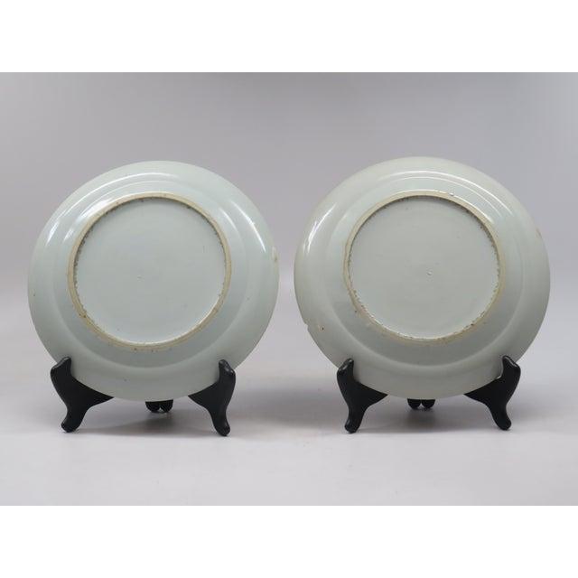 Antique Chinese Mandarin Plates -Pair - Image 5 of 6