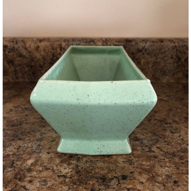 A fine example from the Brush Pottery Company which is similar to McCoy in color and texture execution. Lush green hue....