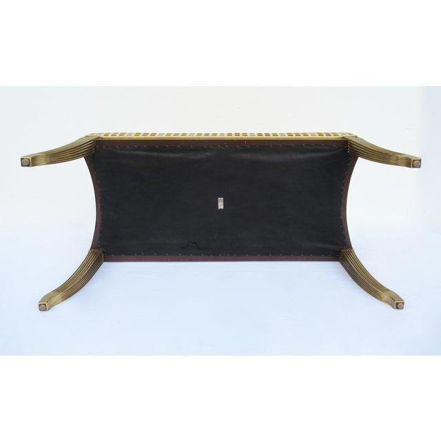 Gilt French Empire Style Interior Crafts Bench For Sale - Image 11 of 13