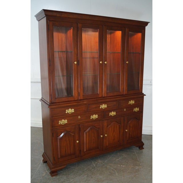 Henkel Harris Solid Cherry 2 Piece Breakfront China Cabinet - Image 2 of 10