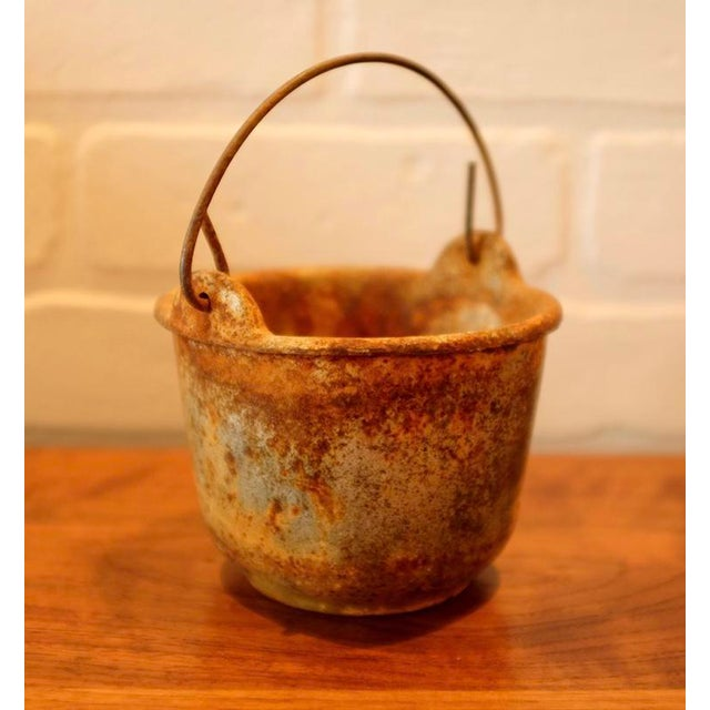 Contemporary Patinated Foundry Smelting Crucible For Sale - Image 3 of 9