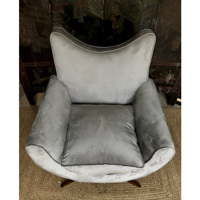 Chic Lounge Chairs in the Manner of Jean Royere - a Pair For Sale - Image 9 of 13