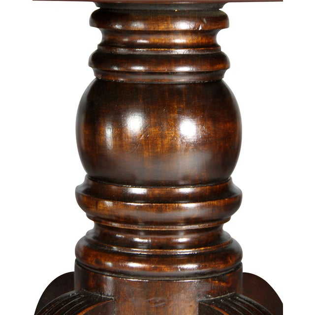 Regency Mahogany Three Pedestal Dining Table For Sale - Image 10 of 13