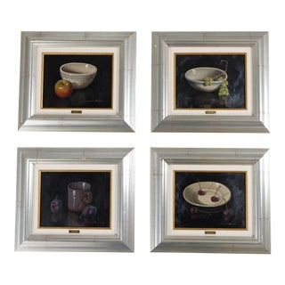 Oil Paintings by Francisco Jesus - Set of 4 For Sale