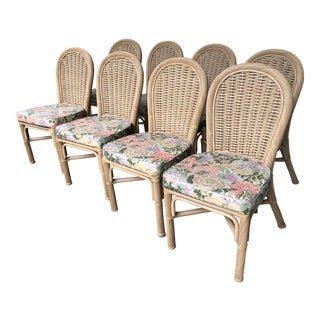 Whitecraft Furniture Rattan Chairs - Set of 8 For Sale