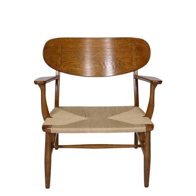 Contemporary Hans Wegner CH-22 Lounge Chair For Sale - Image 3 of 10