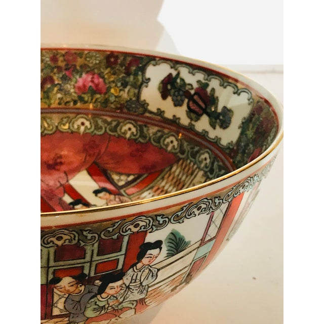 Traditional 1950s Vintage Rose Medallion Bowl For Sale - Image 3 of 6