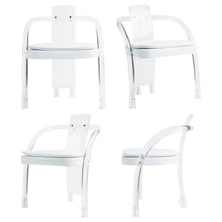 Lucite Waterfall Armchairs by Hill Manufacturing - Set of 4 For Sale